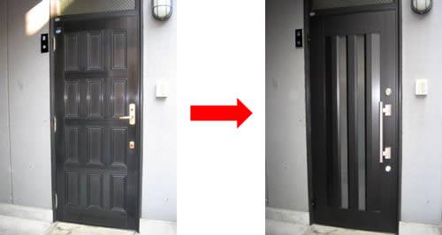 ドア施工前・施工後