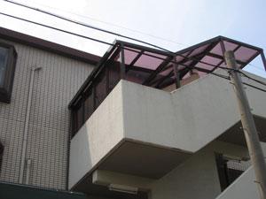 階段屋根施工後3