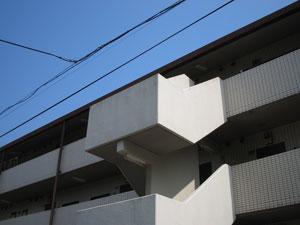 階段屋根施工前