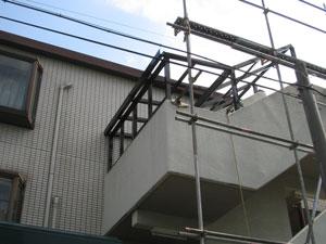 階段屋根施工前3