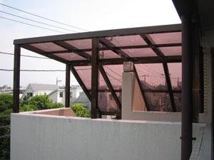 階段屋根施工後4