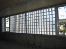 Kビルガラスブロック施工後2