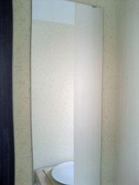 IR様邸洗面所ミラー鏡設置後