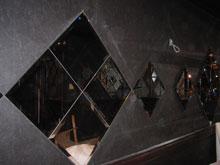 D店舗内装ミラー鏡貼り施工前
