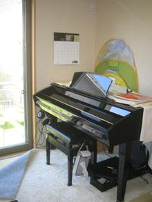 NY様邸室内ピアノ