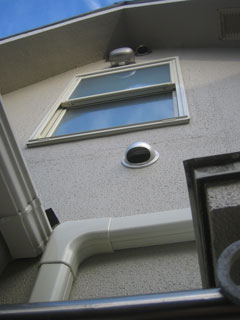 WB様邸目隠し面格子を取り付けた窓の様子