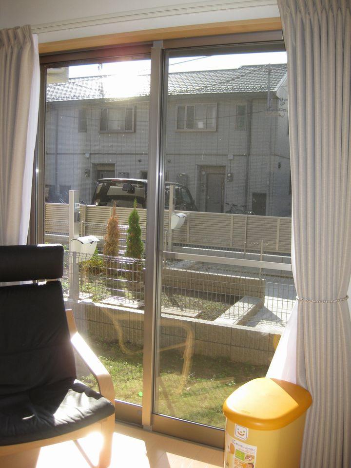杉並区YT邸防犯セキュオペア施工前の掃き出し窓